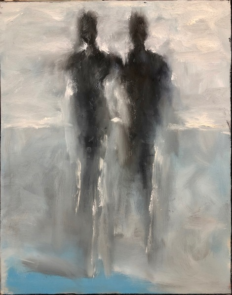 Together as One 28 x22 oil on canvas